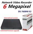 Бесплатная доставка в Исходном HIK Embedded NVR 8-канальный 4 К DS-7608NI-E2 с 2 Порта SATA до 12MP Запись H.265 Plug & играть