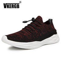 VKERGB 2019 New Men'S Mesh Shoes Men'S Casual Shoes Super Lightweight Sports Shoes Flying Woven Shoes Wild Trend Breathable Men'