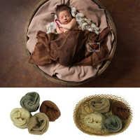 2019 nuevo paquete de 4 Uds. Envoltorio de mohair elástico accesorios de fotografía para recién nacidos accesorios de sesión de fotos para fotografía de estudio