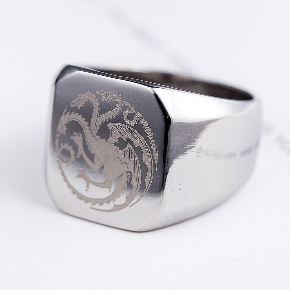 Popolare Game of Thrones Targaryen stemma di famiglia drago uomini anello  JS39