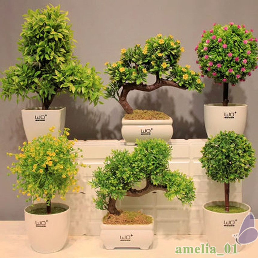 grass ball small bonsai simulation flower green velvet potted artificial plant flowers set. Black Bedroom Furniture Sets. Home Design Ideas