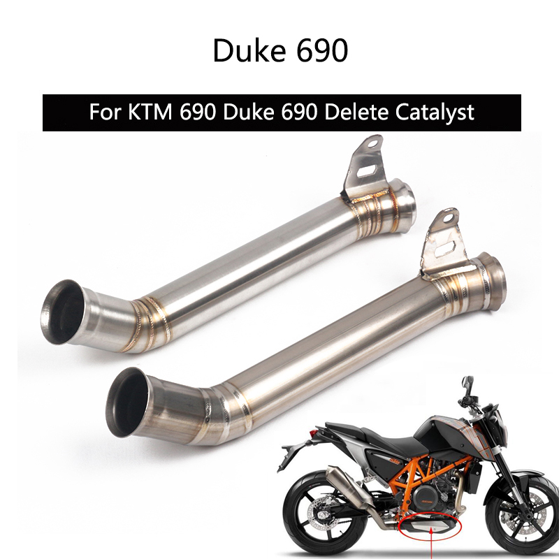 Delete Catalyst Pipe For KTM 690 Duke 690 Exhaust Pipe Motorcycle Mid Link Pipe Slip