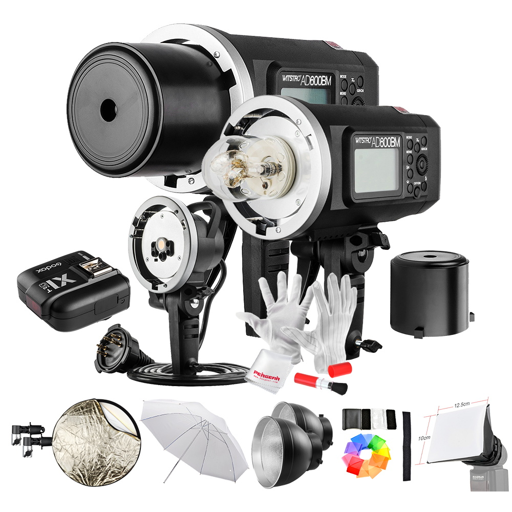 Godox AD600BM 600W GN87 1/8000 HSS Outdoor Flash Strobe Monolight with X1C Wireless Flash Trigger 8700mAh Battery Portable Head