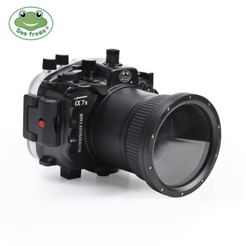 Seafrogs A7 II Pro 40m/130ft Underwater Waterproof Housing Case For Sony A7 II A7R II A7S II Support 28-70mm lens, Black White фото