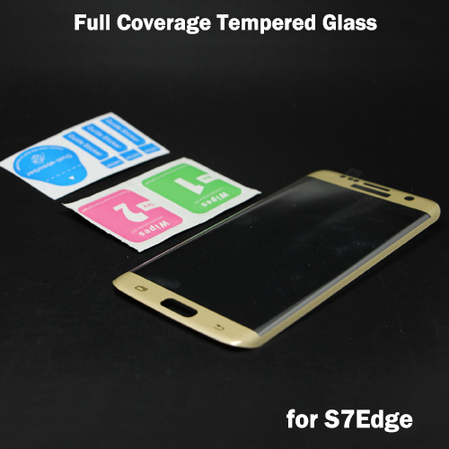 20Pcs/lot Newest! 3D <font><b>Full</b></font> <font><b>Cover</b></font> <font><b>Curved</b></font> <font><b>Side</b></font> <font><b>Tempered</b></font> <font><b>Glass</b></font> Film <font><b>Screen</b></font> Protector Free Shipping For Samsung S7 Edge
