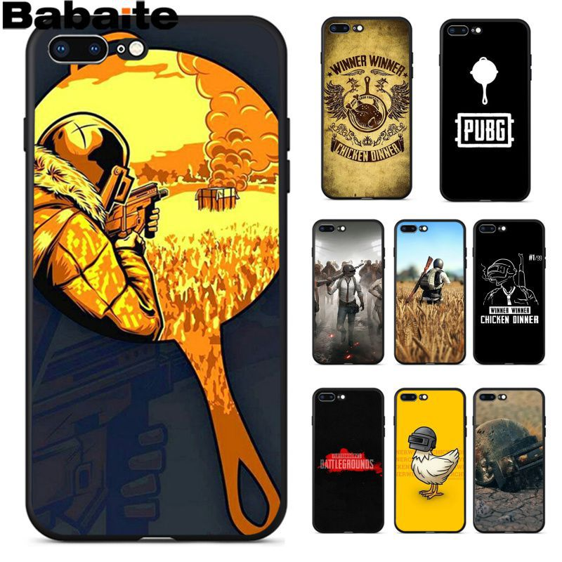 Babaite PUBG High Quality Phone Accessories Case for iPhone 8 7 6 6S Plus 5 5S SE XR X XS MAX Coque Shell