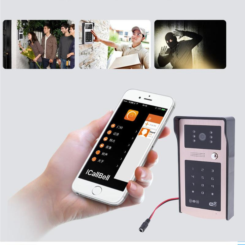 цена New Wireless IP Doorbell With Camera Video Phone WIFI Door bell New Code Keypad Night Vision for Phone Waterproof Doorbell