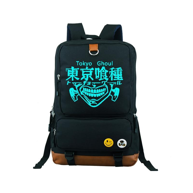Japanese Cartoon Tokyo Ghoul Kaneki Ken Backpack School Bag Laptop Bag Xmas Gift Can Glow in the dark Shoulder Boys Girls Bag