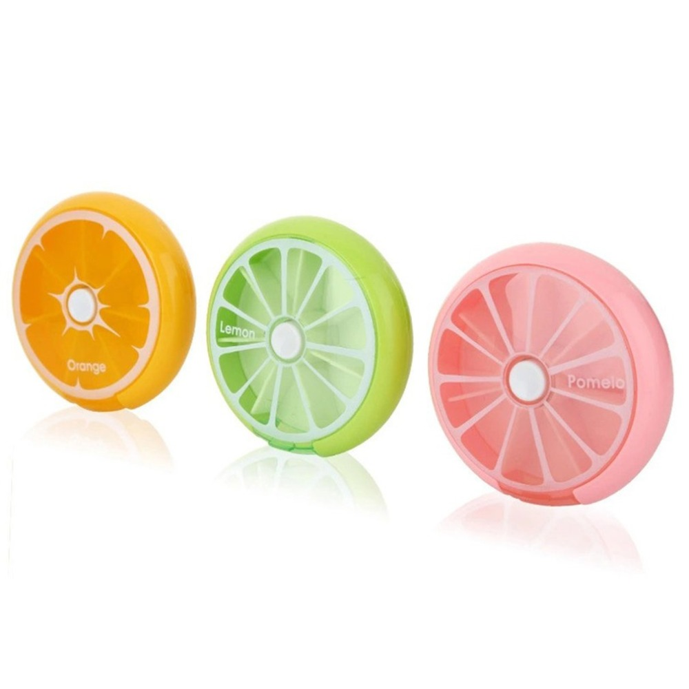 Portable Round Shape Small Medicine Pill Box Portable 7 Days Weekly Travel Medicine Holder Tablet Storage Case Container