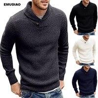 Водолазки, мужские свитера, пуловеры, пальто 2019, новые мужские зимние модные однотонные свитера, повседневные теплые вязаные Джемперы, свит...