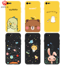 ASINA Silicone Case For iPhone 7 8 Case Cute Original Cartoon Drawings For iPhone 7 8 Plus Cover Case Ultra Thin Coque