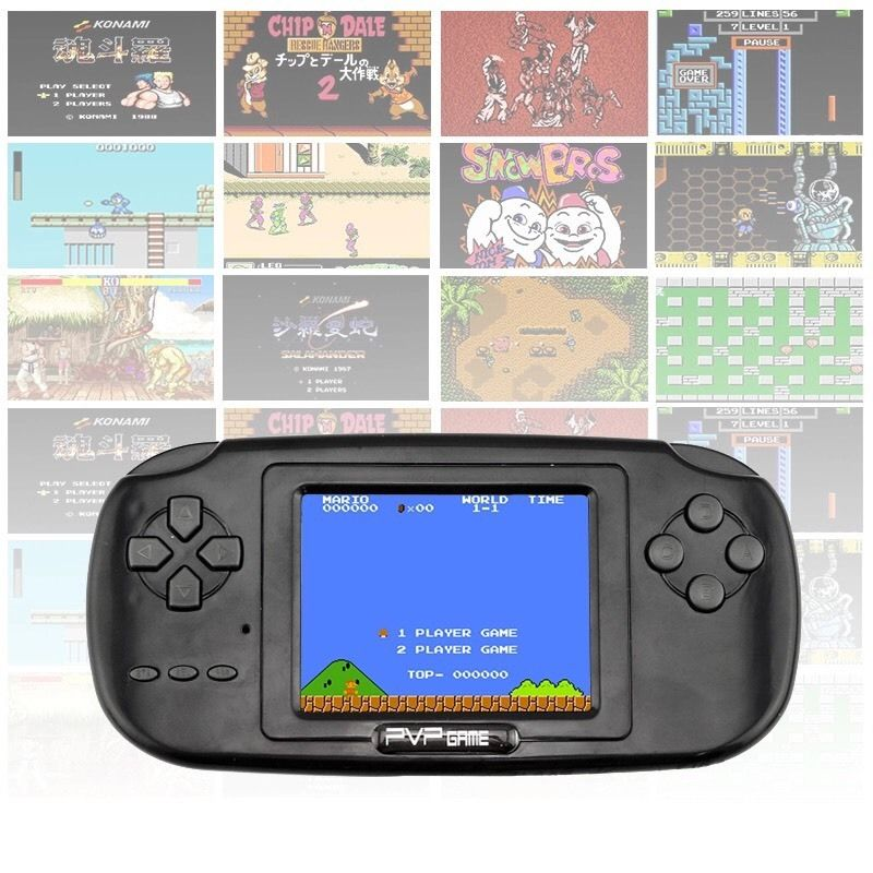 2016 Classic PVP Game HOT Childhood Game With 168 Games 3.0 Inch 8-Bit PVP Portable Handheld Game Console
