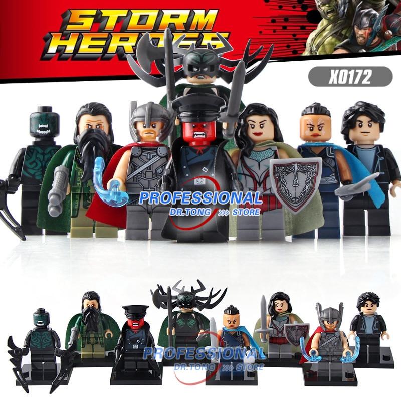 DR.TONG 80Pcs Super Heros Thor Hela Sif Valkyrja Briques Beserker Mandarin Action Building Blocks Enfants Cadeau Jouets X0172