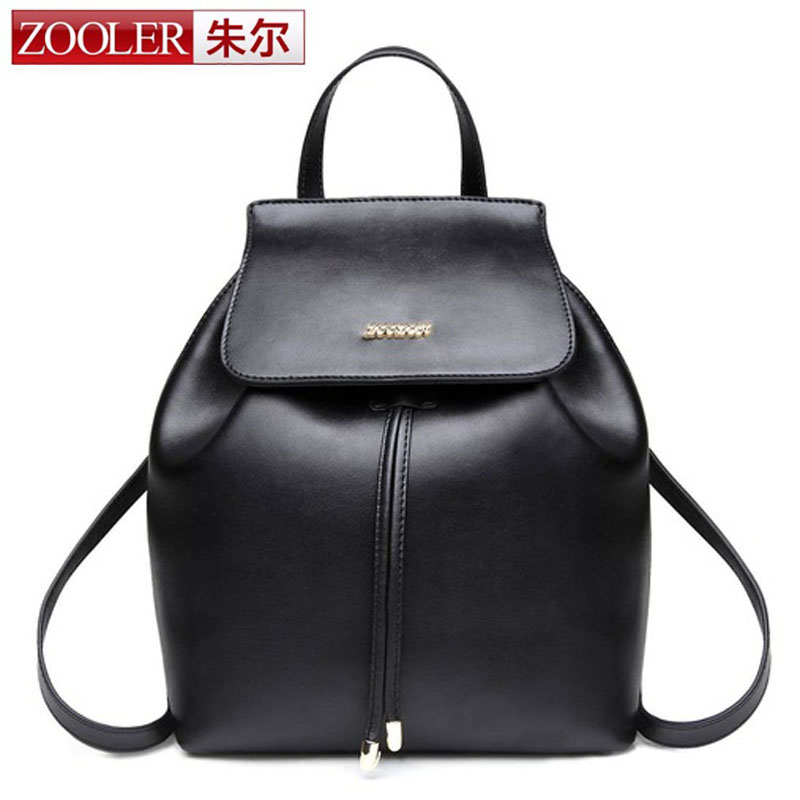 ZOOLER Women Genuine Leather Backpack Mansur Lady Real Leather Rope Backpack Girl Leather Schoolbag Free Shipping High Quality women pu leather backpack mansur lady leather backpack girl leather school bag free shipping fashion girls bag