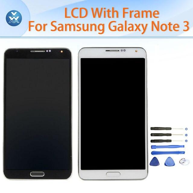 LCD замены для Samsung Galaxy Note 3 N900 N9005 N9002 ЖК-дисплей сенсорный экран digitizer стекло рамка полная сборка