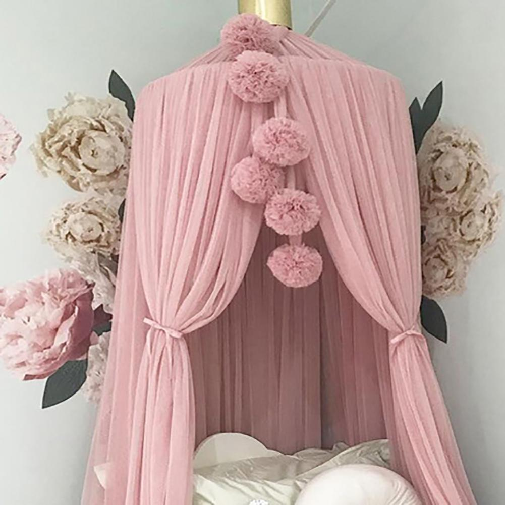Lovely Chiffon Balls DIY Wool Felt Home Bed Net Hanging Decoration Ornament Accessories Gift For Kids Room Ornament Room decor
