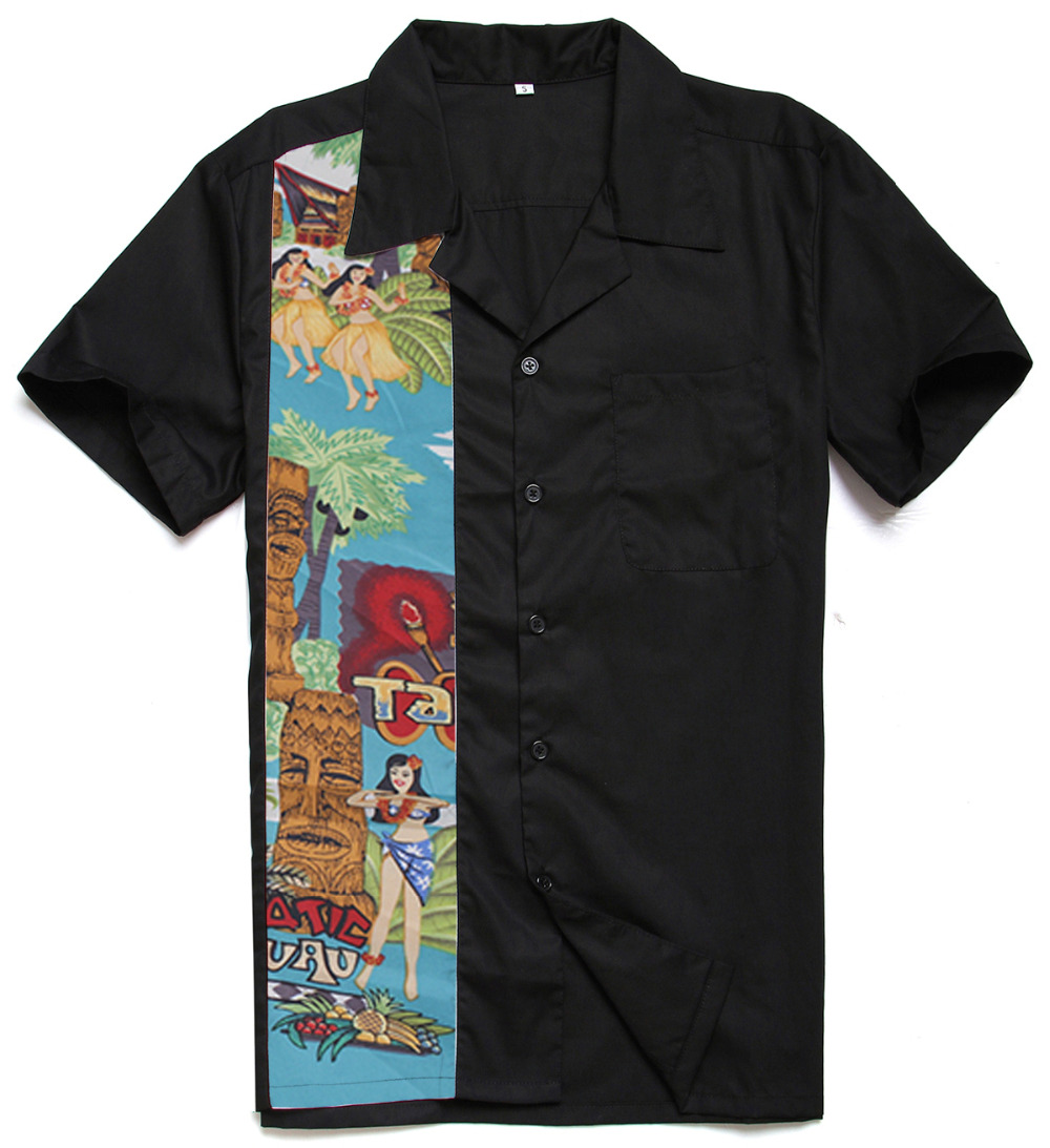 6370769a Mens Wear 2018 Cotton Hawaiian Nude Girl Printing Panel Rock N Roll Casual  Charley Harper Inspired Latest Shirt Designs for Male-in Casual Shirts from  Men's ...