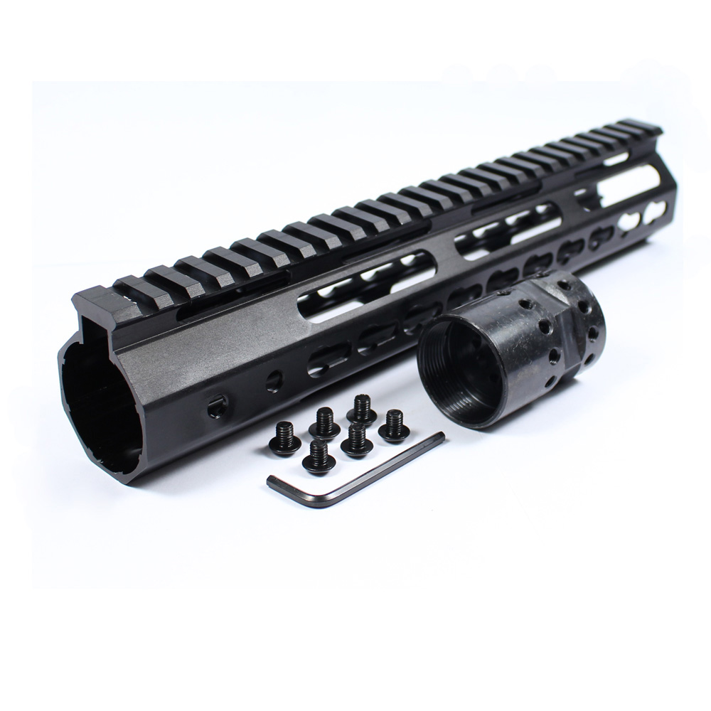 "7"" 9"" 10"" 12"" 13.5"" 15"" Hunting Tactical Keymod Handguard AR15 M4 Free Float Rail Picatinny Mounting Rifle Barrel Mount&Nut-in Scope Mounts & Accessories from Sports & Entertainment"