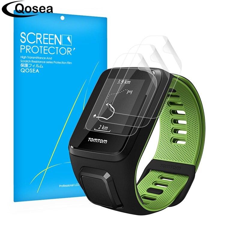 (3 PACK) Qosea Pour TomTom GPS Coureur SmartWatch Écran Protecteur Film 3X Ultra Clear LCD Guard Shield Couverture Peau Explosion-preuve