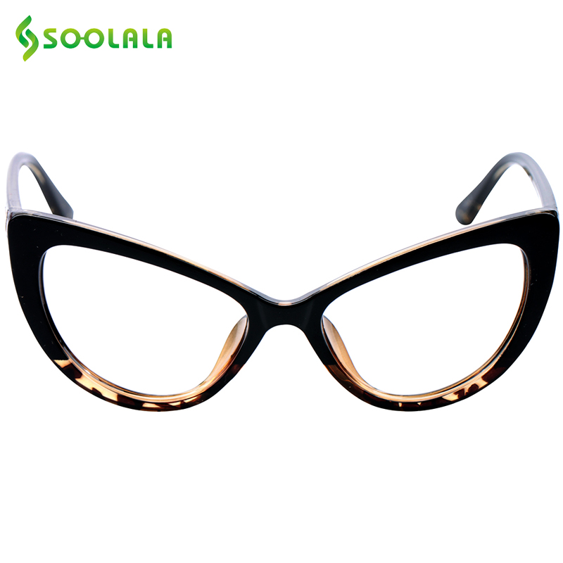 SOOLALA Cat Eye Reading Glasses Women Men Oversized Reading Glasses +0.5 0.75 1.25 1.75 2.25 To 4.0 Custom Presbyopia Glasses
