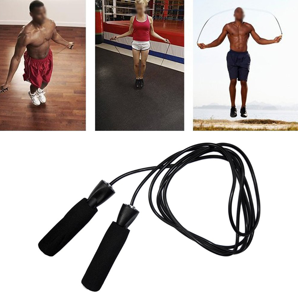 Flexible Aerobic Exercise Skipping Jump Rope Adjustable Bearing Speed Skipping Fitness Rope Strap