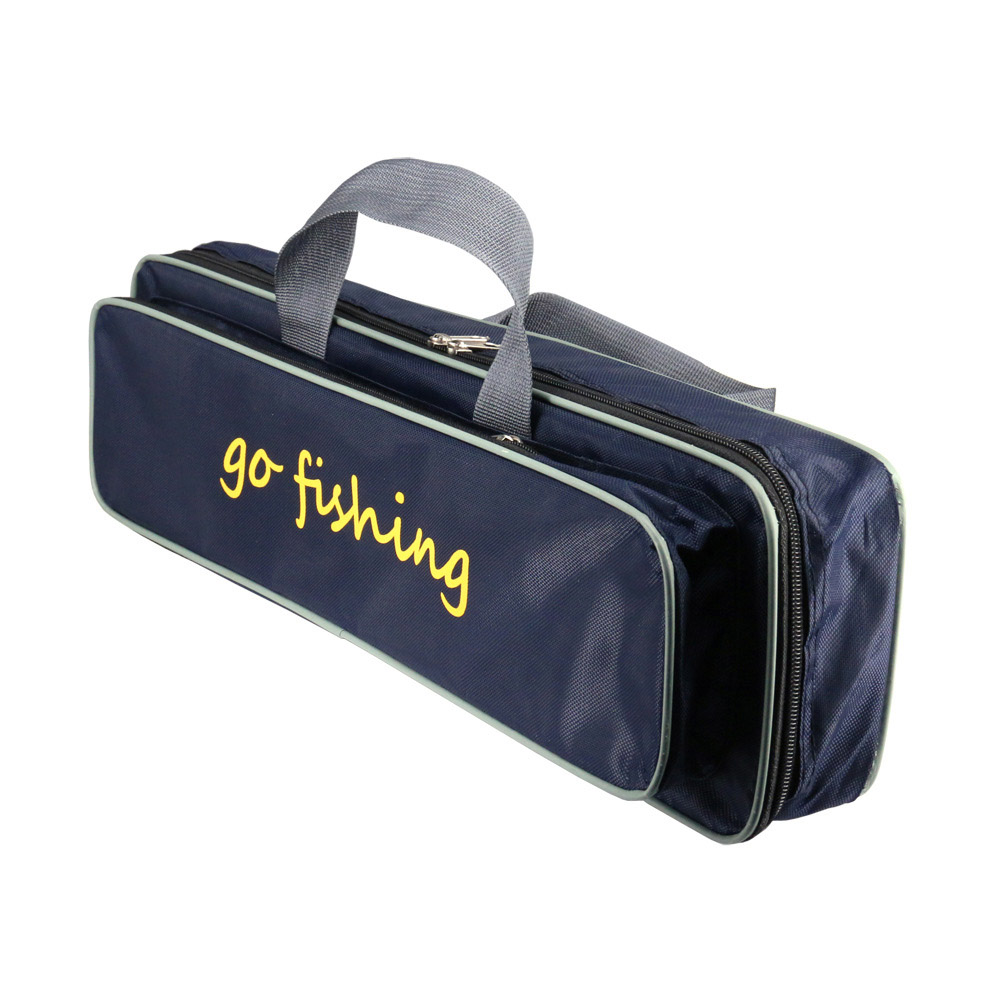50CM Zipper Capacity Tool Bags Waterproof Fishing Rod Reel Lure Canvas Pole Storage Case Portable PVC Fishing Bags