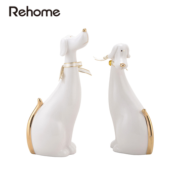 christmas European style ornaments two pieces of Rabbit & dog living room decoration