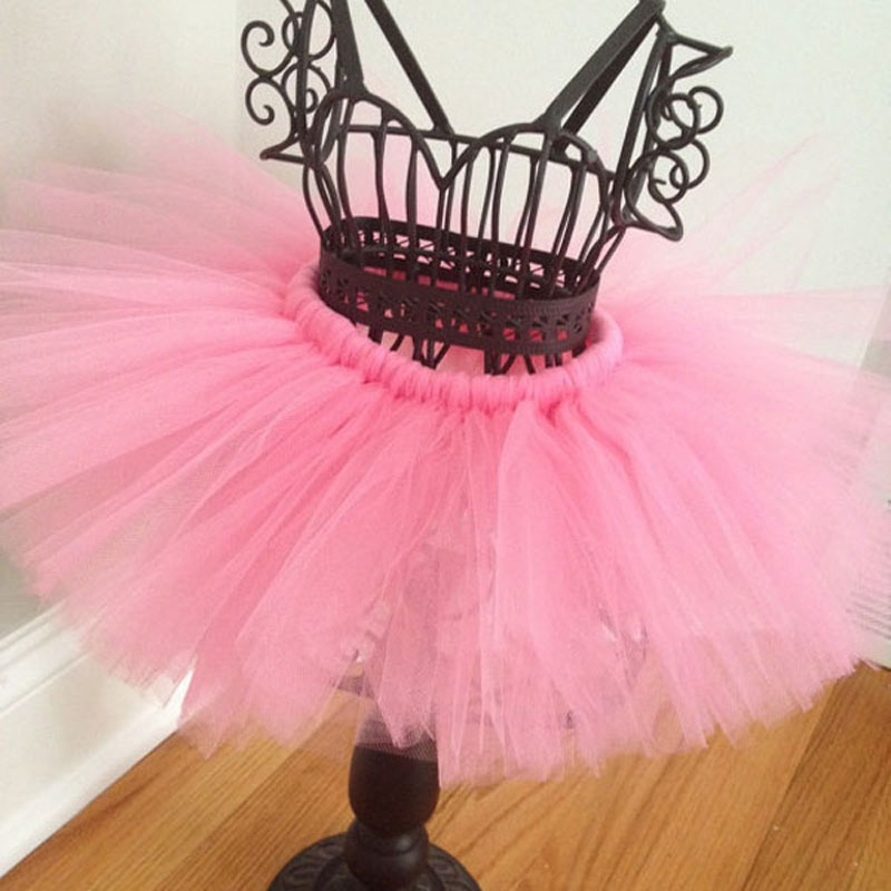 Super-Sweet-Pink-and-Ivory-Precious-Newborn-Tutu-and-Flower-Headband-Set-Baby-Photography-Props-Girls-Tutu-Skirt-TS028-4