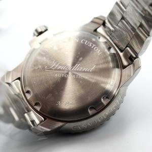Image 5 - Yeni 5015 erkek paslanmaz çelik izle otomatik dalış izle 20ATM safir cam çerçeve Retro San Martin erkekler mekanik kol saati