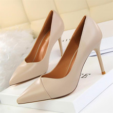High-quality women's high-heeled shoes fashion slim simple professional OL women's shoes with high-heeled shallow mouth pointed стоимость