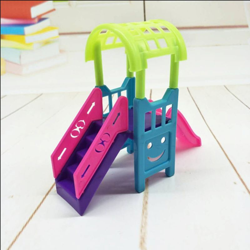 Girls Toys Ladder Amusement Park Sliding Play Dollhouse Accessories Dolls Miniatures Funny Garden Toy