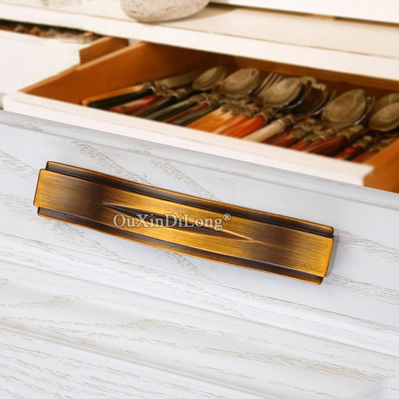 10PCS High Quality European Solid Kitchen Door Handles Cupboard Wardrobe Drawer Cabinet Pulls Handles Knobs Furniture Hardware in Cabinet Pulls from Home Improvement