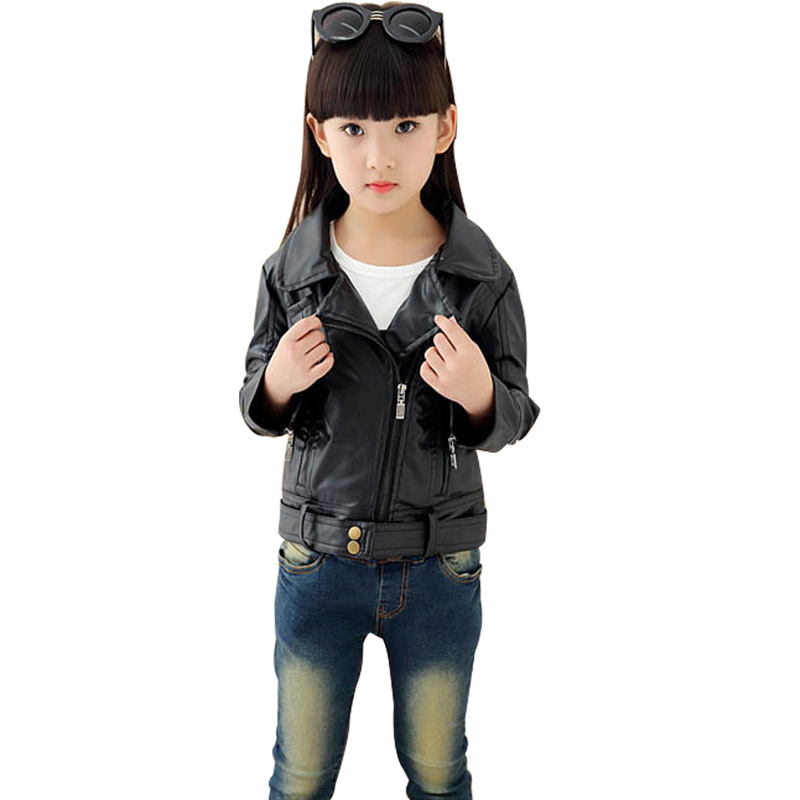 0172e5825 [Little Beauty] girls PU leather motorcycle jackets kids outwear teenagers  clothes kids spring jackets and coats 3 14 children-in Jackets & Coats from  ...