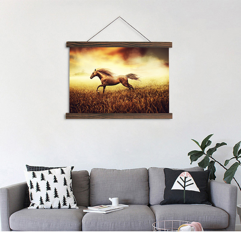 Artryst modern house hanging canvas painting running horse image HD Print for living room wall art decoration painting SCP (79)