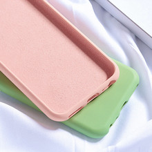 Liquid Silicone Phone Case For iPhone 8 6 6S 7 Plus XS case Cute Love Heart Soft Cover XR X Xs Max cover
