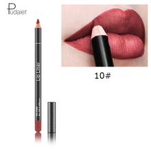 hot deal buy pudaier 12 colors pencil for lips lipstick matte lipliner for lips tint lipsliner pen cosmetics makeup matte lipsticks makeups