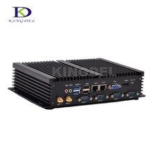 Горячая! 4 Г RAM + 64 SSD Intel Celeron 1037U dual core Безвентиляторный Промышленный мини linux pc Компьютер, 4 RS232 COM порта 2 Gigabit LAN USB 3.0