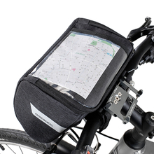 2019 New Bike Handlebar Pouch 6INCH Touchscreen Phone Holder Road Front Frame Bag Strap-on Bicycle Accessory