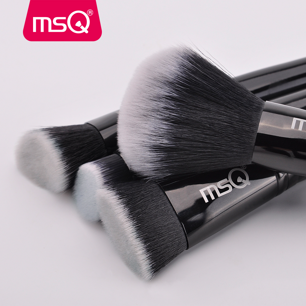 Image 5 - MSQ 15pcs Makeup Brushes Set pincel maquiagem Black Classical Powder Foundation Eyeshadow Make Up Brushes Synthetic Hairmakeup brush setbrush setset beauty -