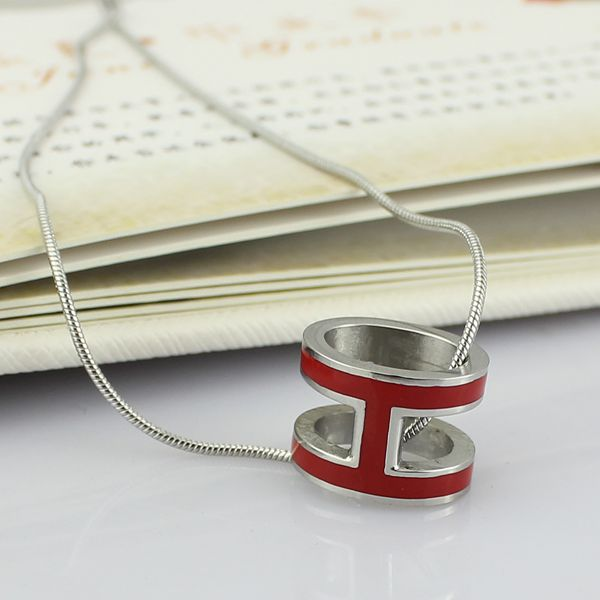 high quality 316 stainless steel h letter pendant necklace for women (11)