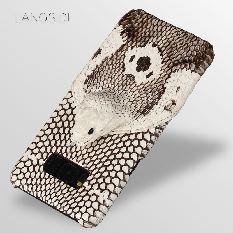 LANGSIDI Phone Case For Samsung Galaxy A50 A70 S6 S7 S8 S9 S10 Plus Snake Head Back Cover For J5 J7 A5 A9 2017 Note 8 Phone Case