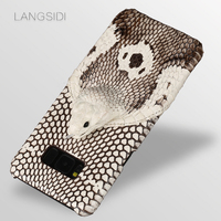 LANGSIDI Phone Case For Samsung Galaxy S6 S7 S8 S9 Plus Snake Head Back Cover For J5 J7 A5 A9 2017 Note 8 Phone Case