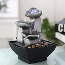 Vintage Home Decor Indoor Water Fountains Resin Feng Shui Fountain Fig