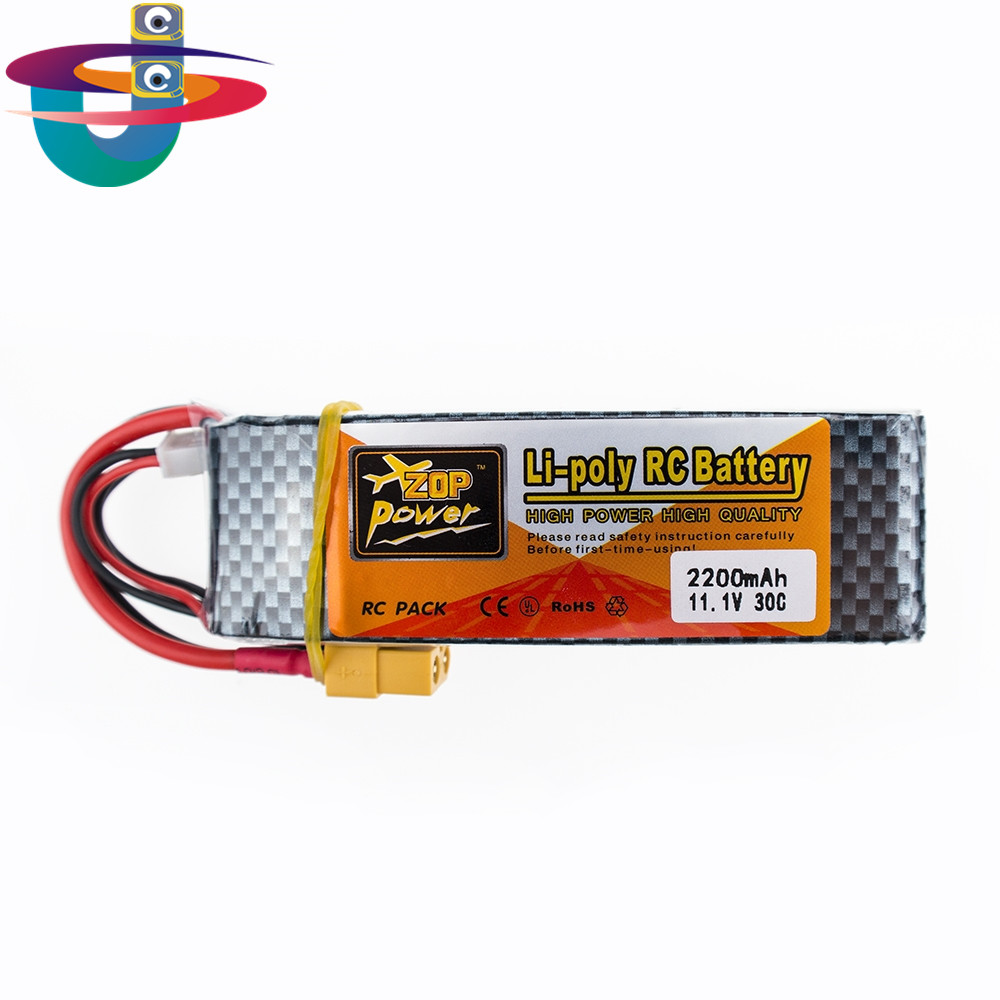 Brand New ZOP Power Lipo Battery 11.1V 2200mAh 25C MAX 35C 3S T / XT60 Plug for RC Car Airplane T-REX 450 Helicopter Part