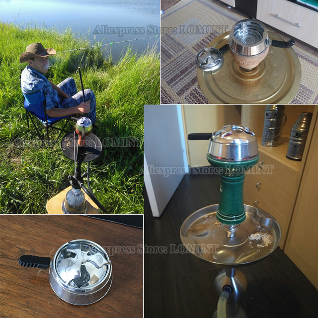 LOMINT Hookah Heat Keeper Heat Management Device Metal Charcoal Holder For Shisha Chicha Narguile Bowl Accessories manufacturer