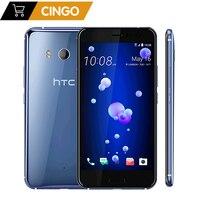 ОРИГИНАЛ htc U11 5,5 Европейская версия 3000 мАч 4 Гб ОЗУ 64 ГБ/128 ГБ Восьмиядерный 4G LTE Android телефон завод разблокирован 12 МП и 16 МП