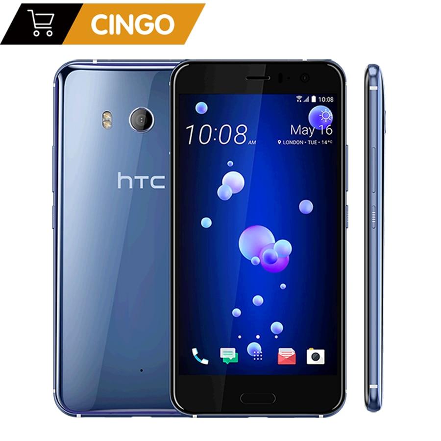 Original HTC U11 5.5 version européenne 3000 mAh 4 GB RAM 64 GB/128 GBROM Octa Core 4G LTE Android téléphone usine débloqué 12MP & 16MP