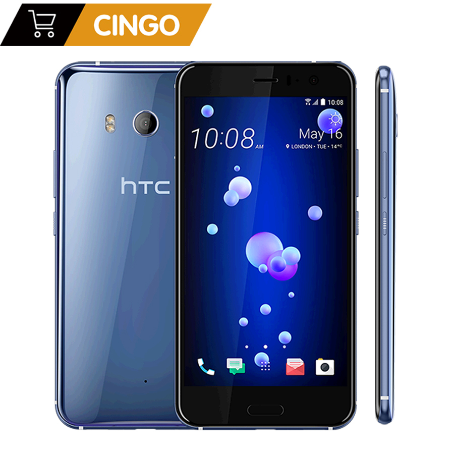 Original HTC U11 5.5 European version 3000mAh 4GB RAM 64GB/128GBROM Octa Core 4G LTE Android phone factory unlocked 12MP&16MP image