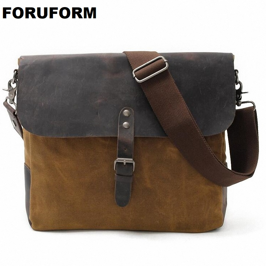 2018 Designer Postman Men's waterproof Crossbody Bag Laptop Case Office Briefcase Men Messenger Bags Canvas Shoulder bag LI-1852 new arrival canvas leather crossbody bag men military army vintage messenger bags postman large shoulder bag office laptop case