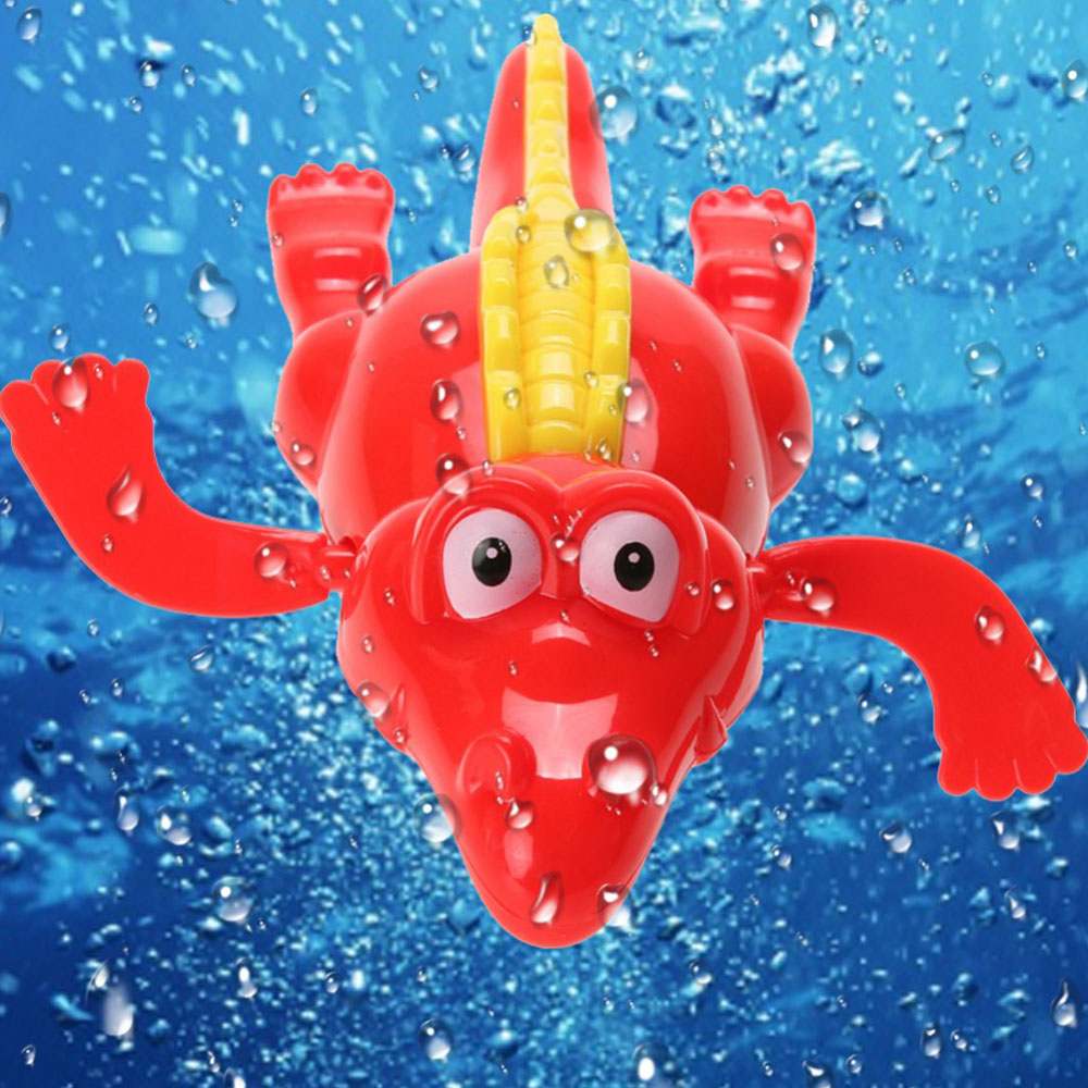 Baby Kids Bath Swimming Animal Toys Fun Shower Crocodile Wind Up Clockwork Play Baby Pool & Accessories for children Infant Toys